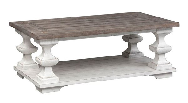 Liberty Sedona Distressed White Cocktail Table LBRT-331-OT1010