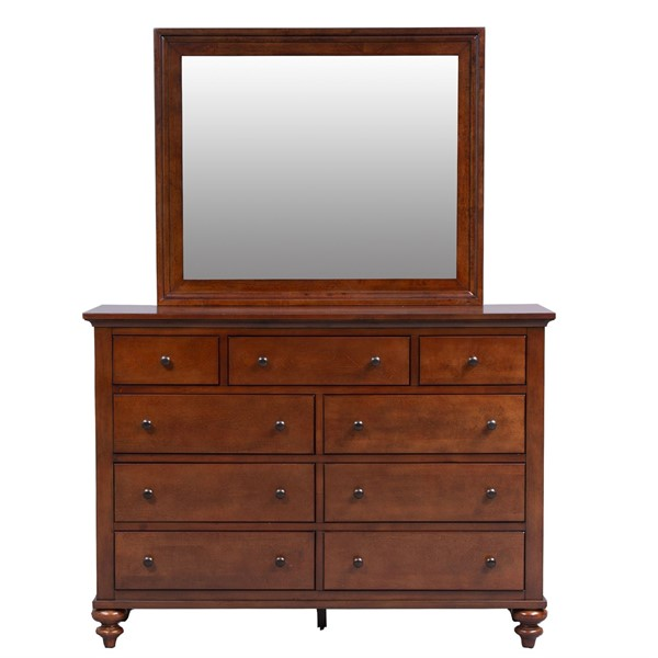 Liberty Hamilton Cinnamon Dresser and Mirror LBRT-341-BR-DM