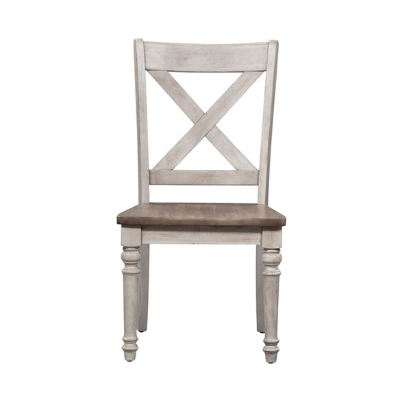 2 Liberty Cottage Lane X Back Wood Seat Side Chairs LBRT-350-C3000S