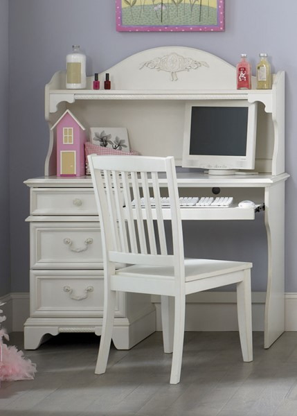 Liberty Arielle Youth Antique White Desk and Chair Set LBRT-352-KIDS-DESK-CHAIR