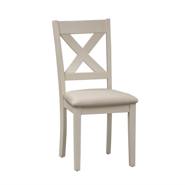 2 Liberty Thornton Cream Brown X Back Side Chairs LBRT-364-CD-2PK
