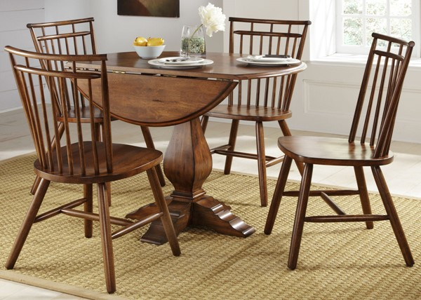 Liberty Creations II Tobacco Round 5pc Dining Room Set LBRT-38-CD-5ROS