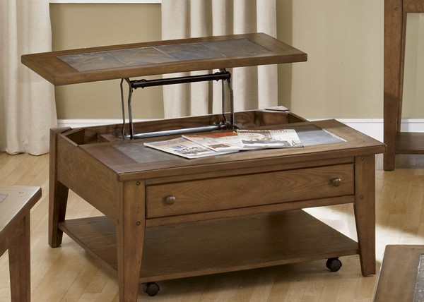 Liberty Hearthstone Rustic Oak Lift Top Cocktail Table LBRT-382-OT1011
