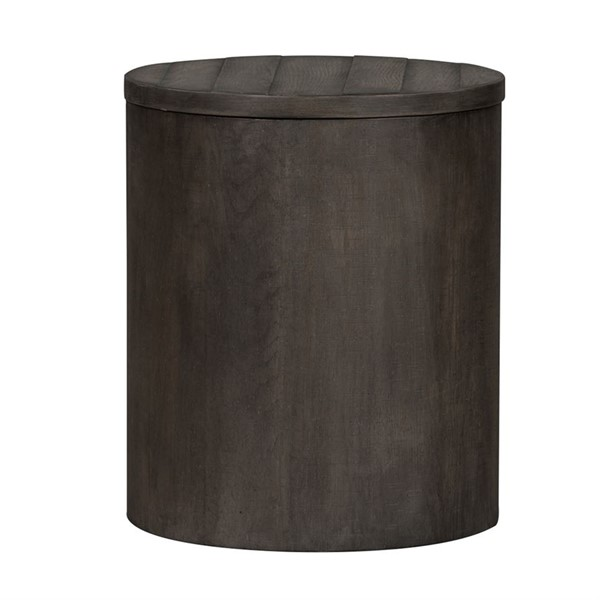 Liberty Modern Farmhouse Dusty Charcoal Drum End Table LBRT-406-OT1021
