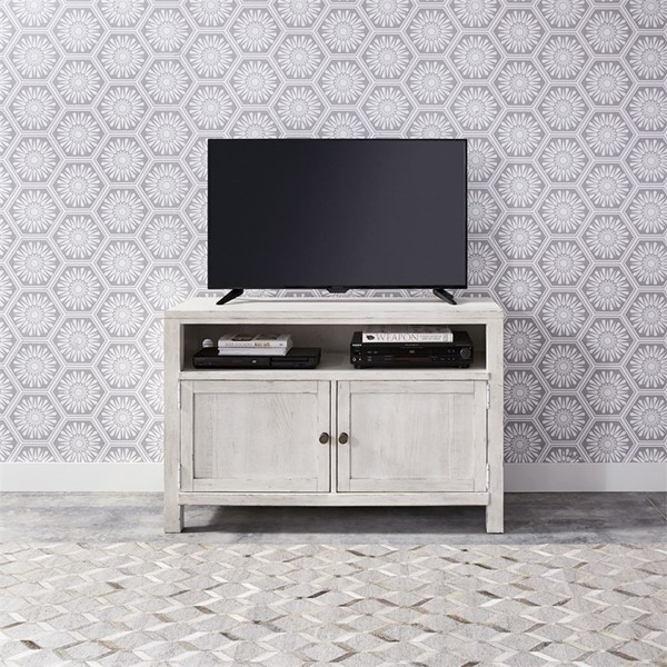 Liberty Modern Farmhouse White 46 Inch Entertainment Console LBRT-406W-TV46