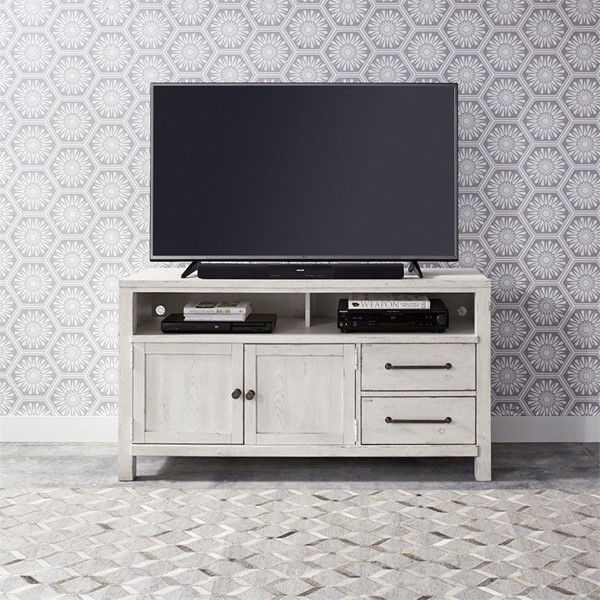 Liberty Modern Farmhouse White 56 Inch Entertainment Console LBRT-406W-TV56