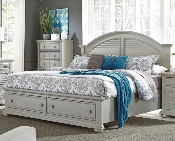 Liberty Summer House II Gray Storage Bed LBRT-407-QSB-BED-VAR3