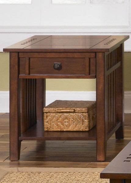 Liberty Prairie Hills Satin Cherry End Table LBRT-409-OT1020