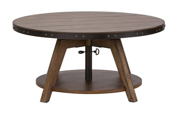 Liberty Aspen Skies Brown Motion Cocktail Table LBRT-416-OT1011