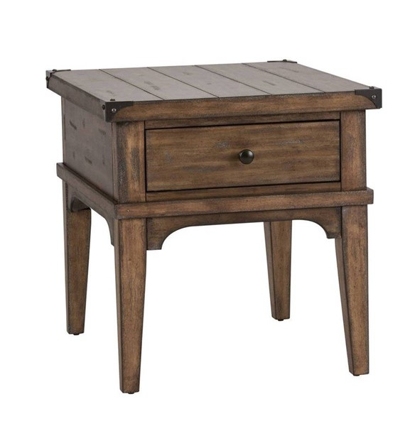 Liberty Aspen Skies Brown End Table LBRT-416-OT1020