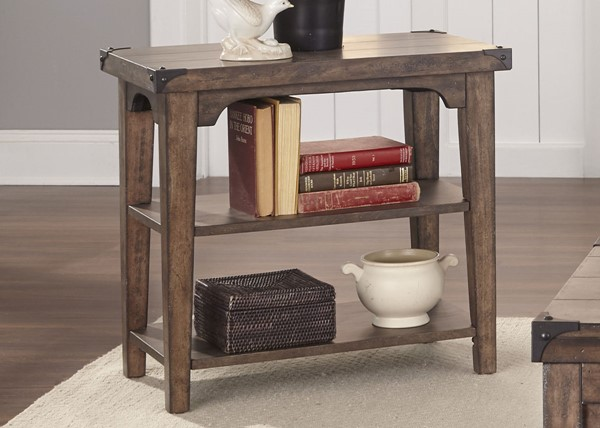 Liberty Aspen Skies Brown Chair Side Table LBRT-416-OT1021