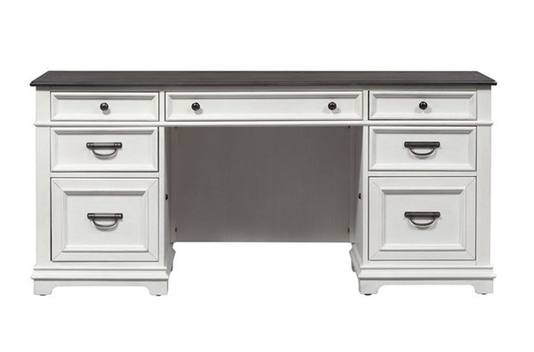 Liberty Allyson Park Wirebrushed White Credenza LBRT-417-HO120-CRD