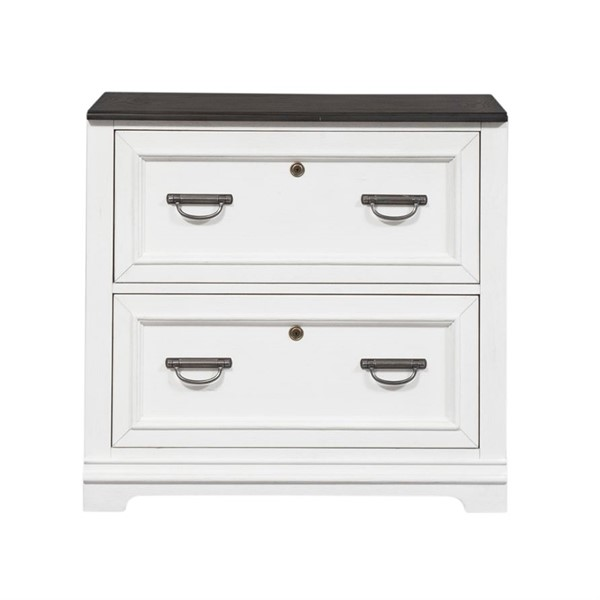 Liberty Allyson Park Wirebrushed White Bunching Lateral File Cabinet LBRT-417-HO147
