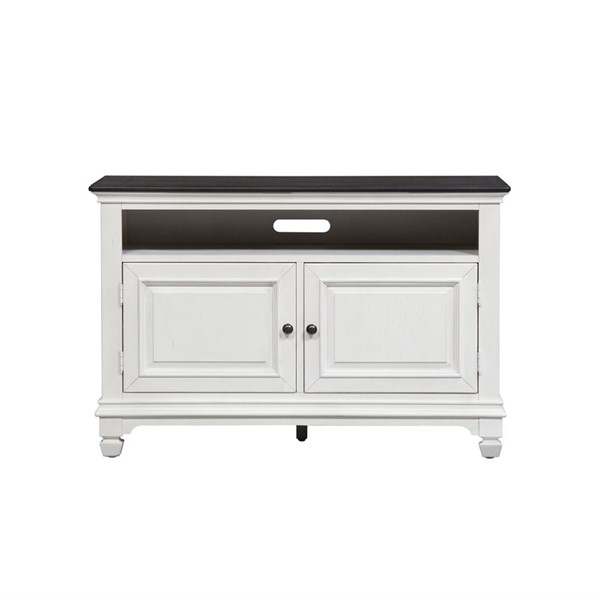 Liberty Allyson Park Wirebrushed White 46 Inch TV Console LBRT-417-TV46