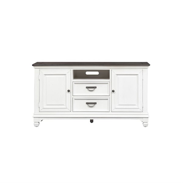 Liberty Allyson Park Wirebrushed White 56 Inch TV Console LBRT-417-TV56