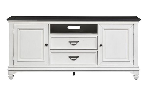 Liberty Allyson Park Wirebrushed White 66 Inch TV Console LBRT-417-TV66