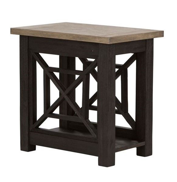 Liberty Heatherbrook Charcoal Ash Chair Side Table LBRT-422-OT1021