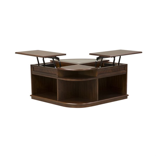 Liberty Wallace Dark Toffee Cocktail Table LBRT-424-OT1010