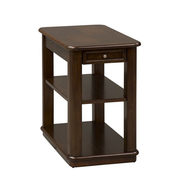 Liberty Wallace Dark Toffee Chair Side Table LBRT-424-OT1021