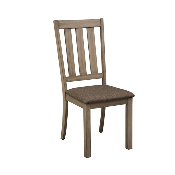 2 Liberty Sun Valley Sandstone Slat Back Side Chairs LBRT-439-C1501S