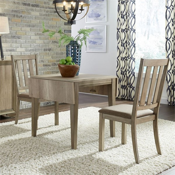 Liberty Sun Valley Sandstone Drop Leaf 3pc Dining Room Set LBRT-439-DR-3DLS