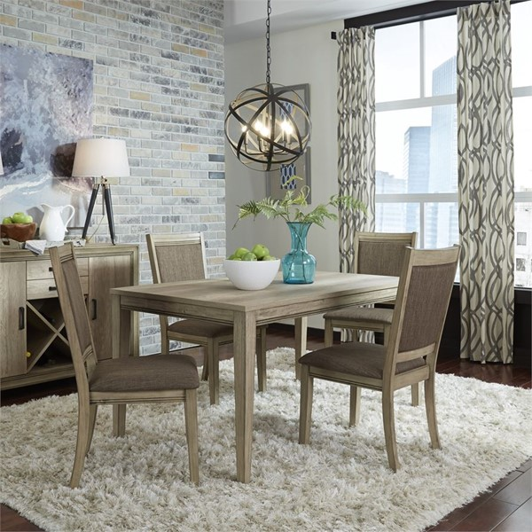 Liberty Sun Valley Sandstone 5pc Dining Room Set with Upholstered Side Chair LBRT-439-DR-O5LTS