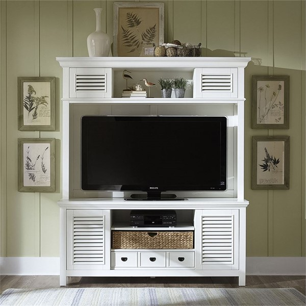 Liberty Summerhill Linen Entertainment Center with TV Stand LBRT-442-ENT-ENC