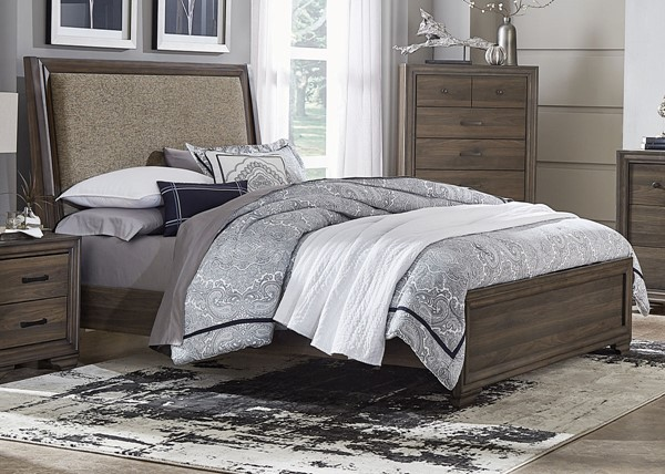 Liberty Clarksdale Walnut Upholstered Beds LBRT-445-BR-TUB-BED-VAR