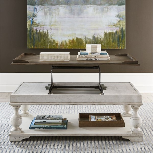 Liberty Abbey Road 3pc Coffee Table Set With Chair Side Table LBRT-455W-OT1022-OCT-S1