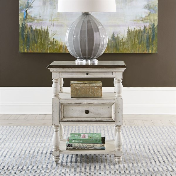 Liberty Abbey Road Drawer End Table LBRT-455W-OT1020