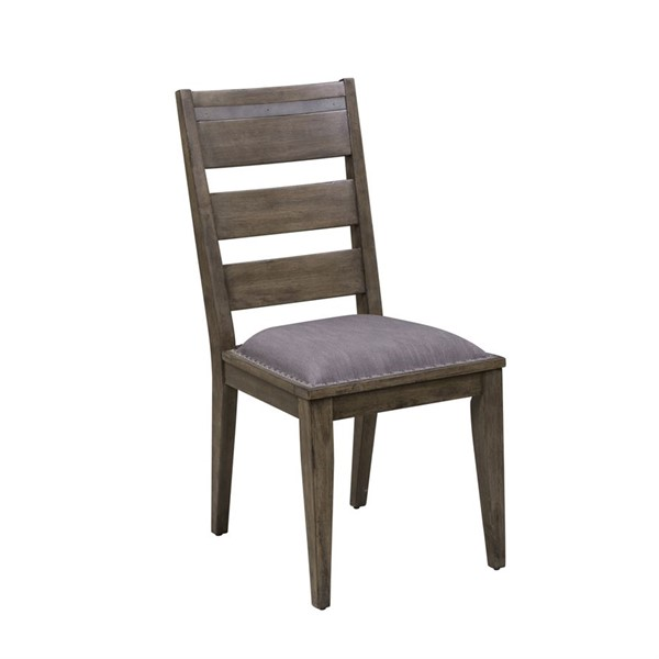 2 Liberty Sonoma Road Weather Beaten Bark Ladder Back Side Chairs LBRT-473-C2001S