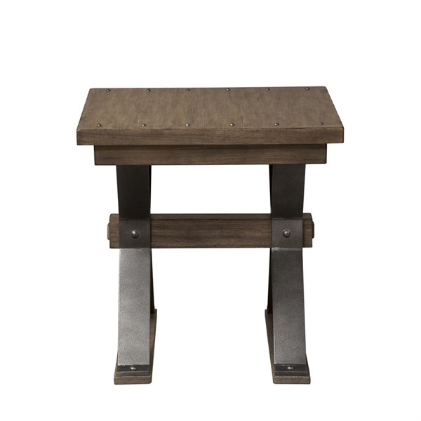 Liberty Sonoma Road Weathered Beaten Bark End Table LBRT-473-OT1020