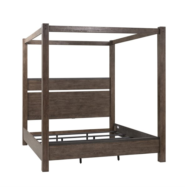 Liberty Sonoma Road Weather Beaten Bark Canopy Bed LBRT-473-QK-BED-VAR3