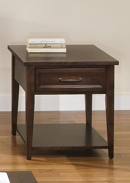 Liberty Lakewood Amaretto Rectangle End Table LBRT-481-OT1020
