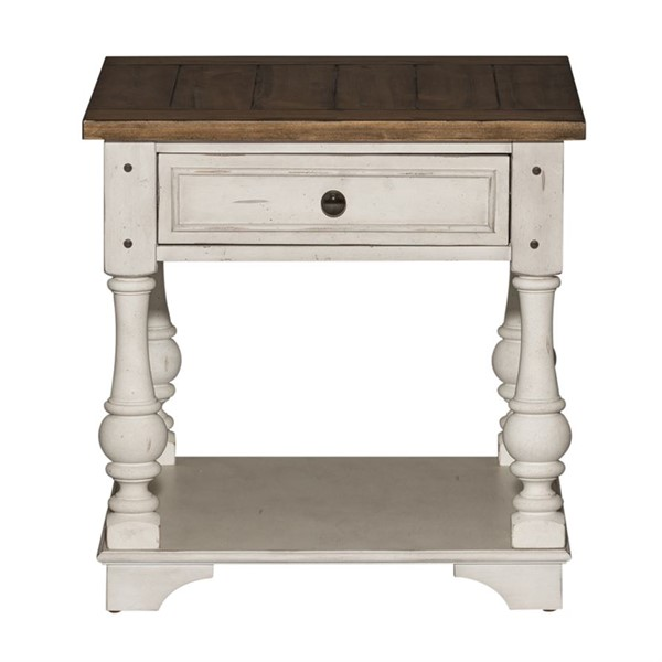 Liberty Morgan Creek White Tobacco End Table LBRT-498-OT1020