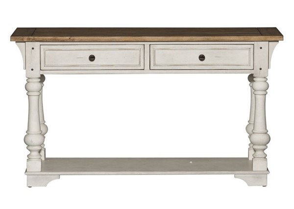 Liberty Morgan Creek White Tobacco Sofa Table LBRT-498-OT1030