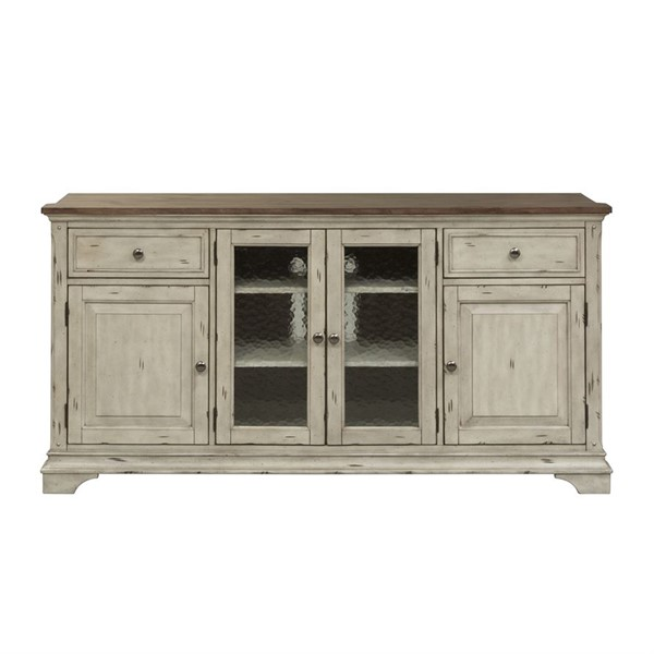 Liberty Morgan Creek White Tobacco Entertainment TV Stand LBRT-498-TV68