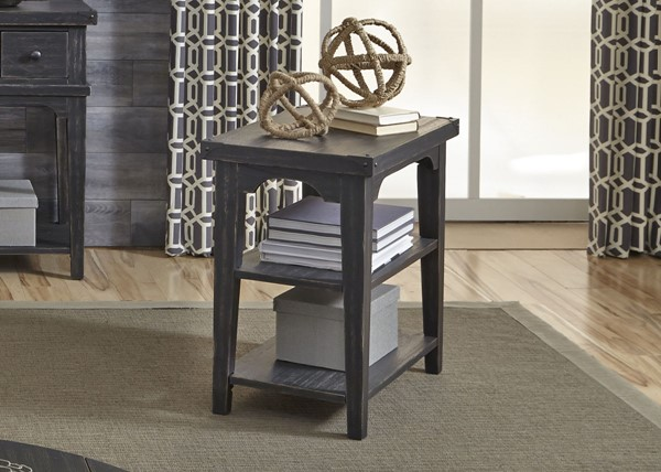 Liberty Aspen Skies Black Chair Side Table LBRT-516-OT1021