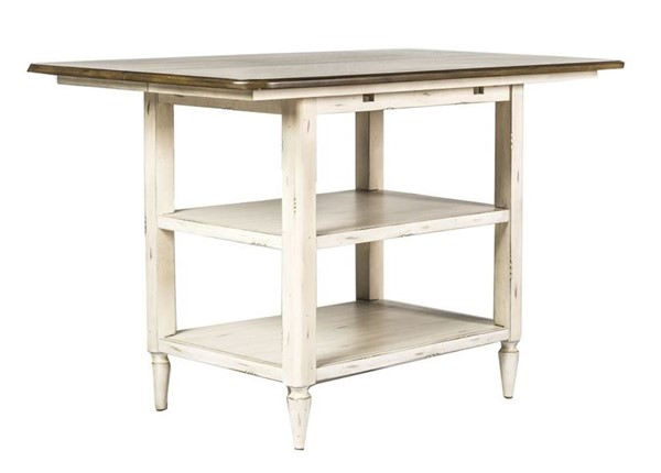 Liberty Oak Hill White Center Island Table LBRT-517-IT5454