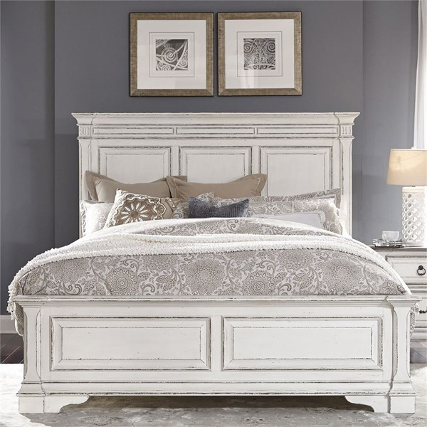 Liberty Abbey Park White Panel Bed LBRT-520-QPB-BED-VAR