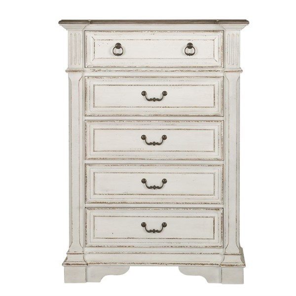 Liberty Abbey Park White 5 Drawer Chest LBRT-520-BR41