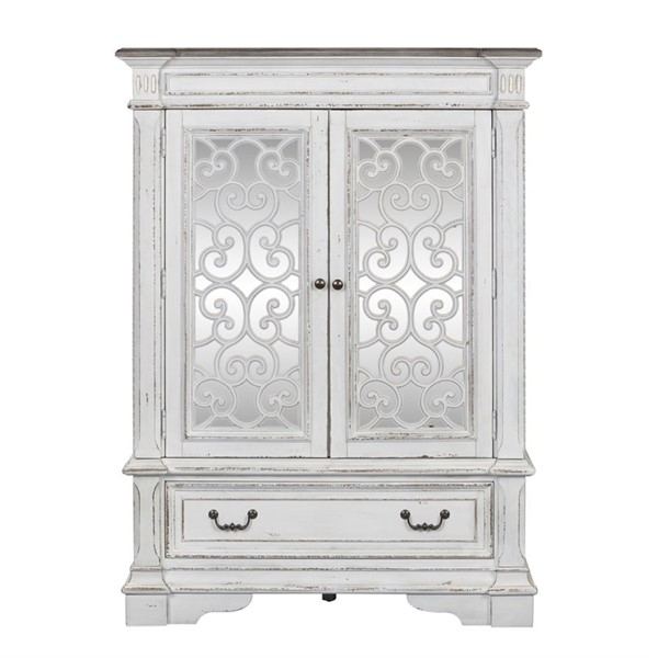 Liberty Abbey Park White Mirrored Door Chest LBRT-520-BR42