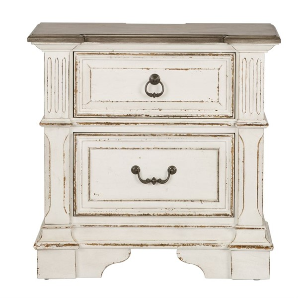 Liberty Abbey Park White 2 Drawer Night Stand LBRT-520-BR61