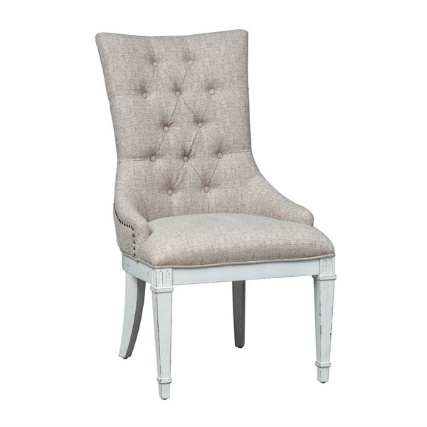 2 Liberty Abbey Park White Hostess Chairs LBRT-520-C9001