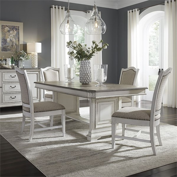 Liberty Abbey Park White 5pc Dining Room Set LBRT-520-DR-5TRS