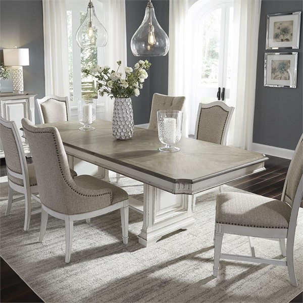 Liberty Abbey Park White 7pc Dining Room Set LBRT-520-DR-7TRS