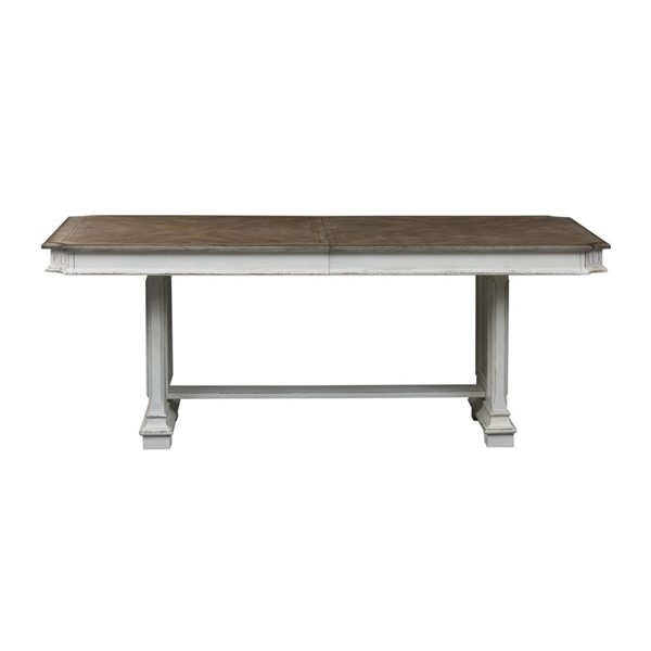 Liberty Abbey Park White Trestle Table LBRT-520-4298-DT