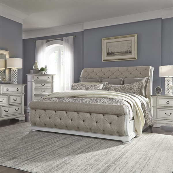 Liberty Abbey Park White 2pc King Sleigh Bedroom Set LBRT-520-KUSL-BR-S4