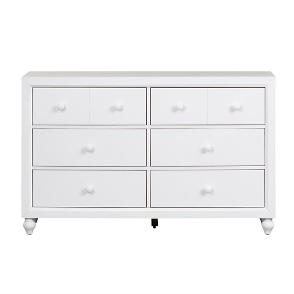 Liberty Cottage View White 6 Drawer Dresser LBRT-523-BR30