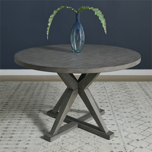 Liberty Crescent Creek Weathered Gray Round Pedestal Table LBRT-530-T4848